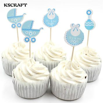 Assorted Baby-Themed Cupcake Toppers (6 pcs)