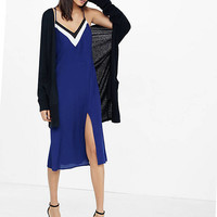 Color Block Slip Dress from EXPRESS