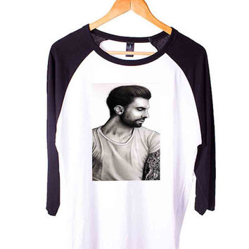 adam levine art Short Sleeve Raglan - White Red - White Blue - White Black XS, S, M, L, XL, AND 2XL*AD*