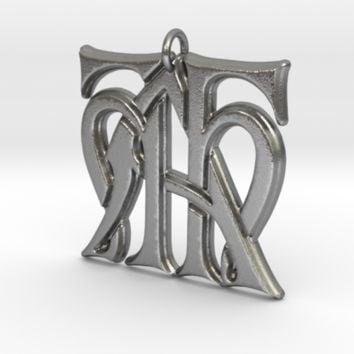 Monogram Initials HHA Pendant by CalicoFlair on Shapeways