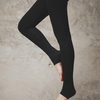 Licorice Black - Leg warmer winter leggings