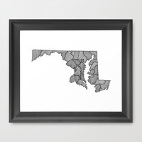 Maryland Lines Framed Art Print by Romi Vega | Society6