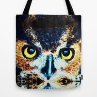 The Wise One - Owl Art By Sharon Cummings Tote Bag by Sharon Cummings