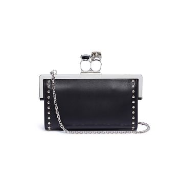 Alexander McQueen | Swarovski crystal stud leather knuckle chain wallet | Women | Lane Crawford - Shop Designer Brands Online