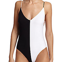 Chloé - Colorblocked One-Piece Swimsuit - Saks Fifth Avenue Mobile