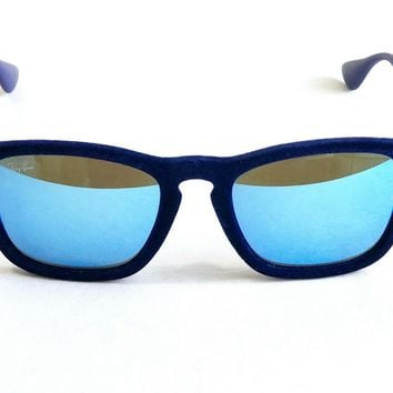 Ray Ban Chris Velvet Blue Sunglasses Limited Edition RB 4187 DISPLAY