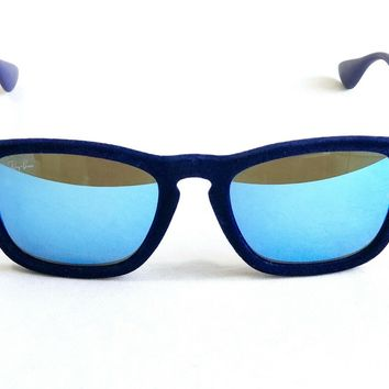 af36b18a0911 Ray Ban Chris Velvet Blue Sunglasses Limited Edition RB 4187 DIS