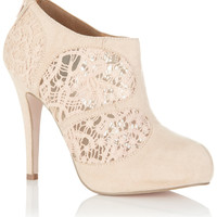 Tabitha Nude Lace Panel Heel - Shoes  - New In