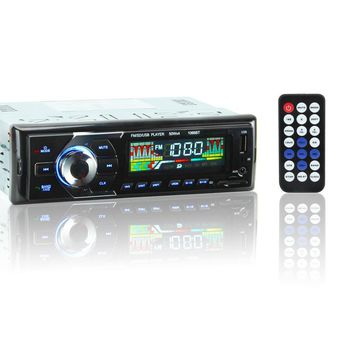 12V Car Stereo FM Radio MP3 Audio Player Support BT Phone MMC Port In-Dash 1 DIN Wireless Remote