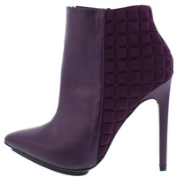 City Chic Purple Pointed Toe Ankle Boot