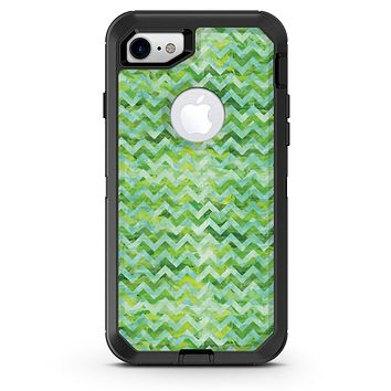 Green Basic Watercolor Chevron Pattern - iPhone 7 or 8 OtterBox Case & Skin Kits