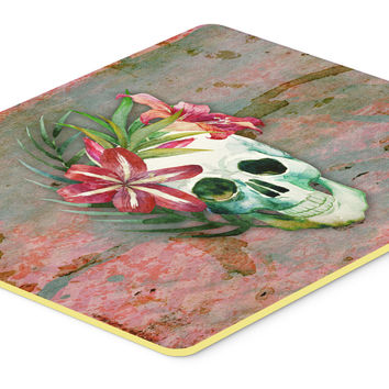Day of the Dead Skull Flowers Kitchen or Bath Mat 24x36 BB5125JCMT