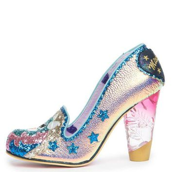 DCCKLP2 Irregular Choice Lady Mist Women's Gold Heels