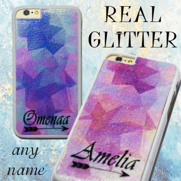 Real Glitter Personalised Rainbow Bling Sparkle Geometric Case Cover for iPhone | eBay