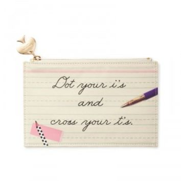 kate spade new york dot the I's pencil pouch
