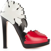 Alexander Mcqueen Lotus Flower Appliqué Pumps - Biondini Paris - Farfetch.com