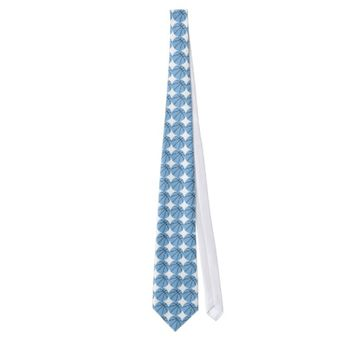 Custom Carolina Blue Basketball Gear Tie