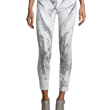 The Stiletto Ankle Jeans, Cracked Earth, Size: