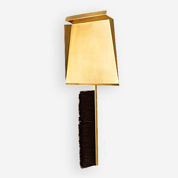 Brass Dustpan, Brush and Wall Hook
