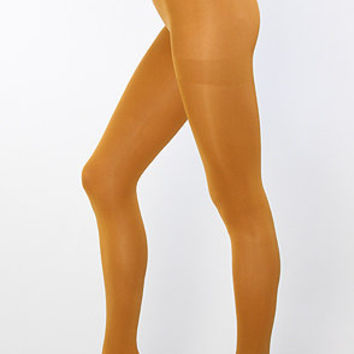 The Solid Opaque Tights in Mustard