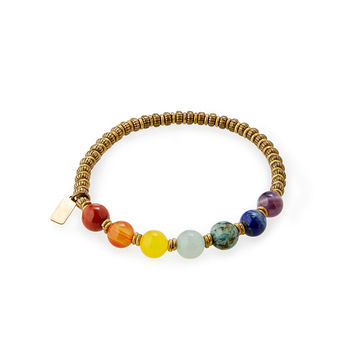 Chakra Gemstone Bracelet | Colorful Beaded Bangle