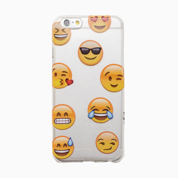 Clear Emoji iPhone 6 Case