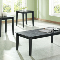 Black Grain End Table