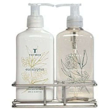 Thymes Eucalyptus Sink Set with Caddy