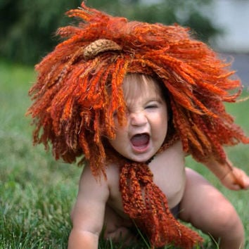 Lion Hat/Lion Hat Prop/Crochet Photography Prop/Lion Mane/Photo Shoot Lion Hat/Lion Halloween Costume/Cat Hat/Newborn Prop