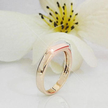 Personalized jewelry Monogram ring Initials ring Ring gift Personalized name Ring 18K or 14K Yellow White or Rose gold