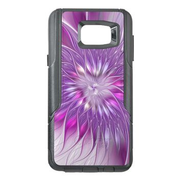 Pink Flower Passion Abstract Fractal Art OtterBox Samsung Note 5 Case