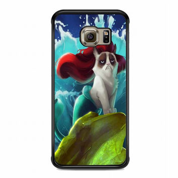 grumpy cat little mermaid For samsung galaxy s6 edge case