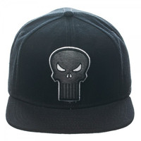 Punisher Logo Black Snapback Cap