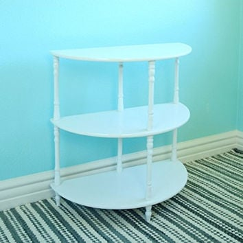 Frenchi Home Furnishing Multi Tiered End Table, White