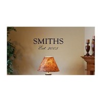 FAMILY NAME AND ESTABLISHED DATE 22X6 Vinyl wall art quotes and sayings home decor...