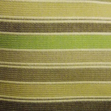 Free Priority Shipping! In/Outdoor Throw Pillow - Neutral Stripes - Beige Brown Tan Green - 11 x 15