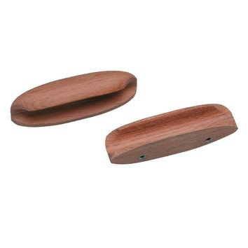 "Whitecap Teak Oval Drawer Pull - 4""L - 2 Pack [60147-A]"