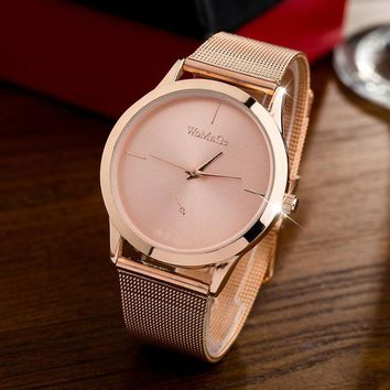 2017 New Fashion Watches femme Women Luxury Quartz Watch rose gold Stainless Steel dress Female montre Clocks