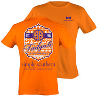 Simply Southern Preppy Football Tailgates With The Best RSVP Orange T-Shirt