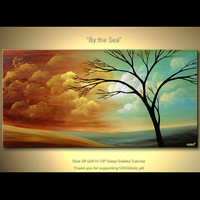 48 Abstract Tree Painting Original Acrylic by OsnatFineArt on Etsy