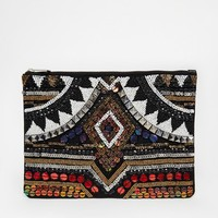 ASOS Aztec Embellished Clutch Bag