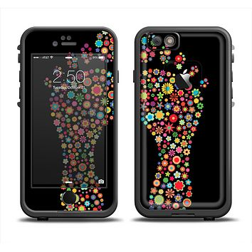 The Vector Floral Feet Icon Collage Apple iPhone 6 LifeProof Fre Case Skin Set