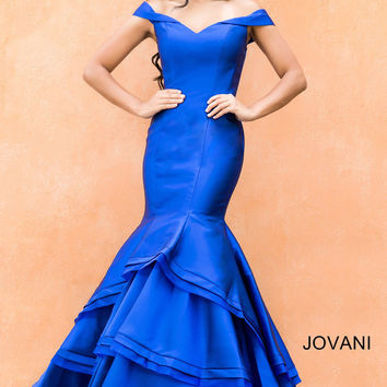 Jovani 31100 In Stock Royal Size 14 Mermaid Prom Pageant Dress