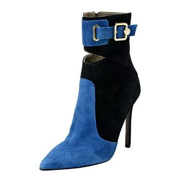 Versace Collection Women's Suede Leather High Heel Boots Shoes US 9 IT 39