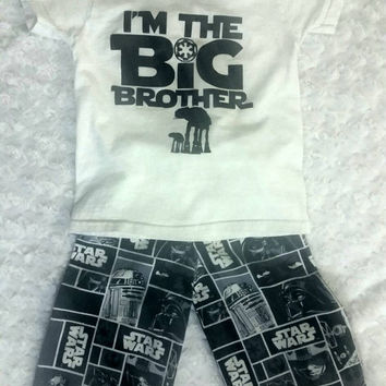 I'm the Big Brother / Sister - Star Wars Pants and T-Shirt Outfit