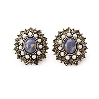 Faux Stone Statement Earrings
