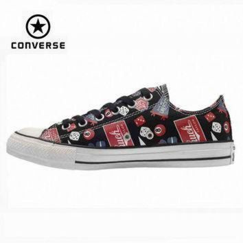 ICIKGQ8 original converse all star shoes men sneakerspattern hand painted low canvas shoes men