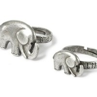 Set of 2 Big Sister Little Sister Elephant Rings