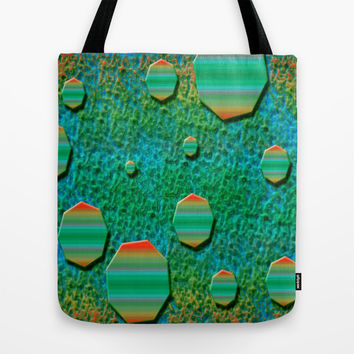 Celestial Octagon Orbs of Planet Uranus Tote Bag by Distortion Art