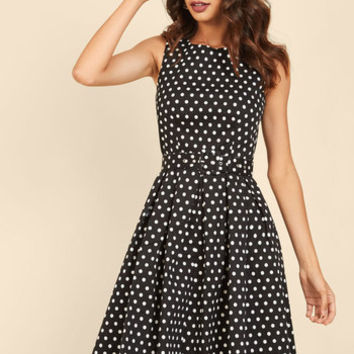 Lindy Hop and You Don't Stop A-Line Dress in Black | Mod Retro Vintage Dresses | ModCloth.com
